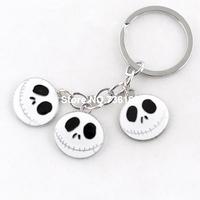Free shipping craneo llaveros fashion design string skeleton key rings popular skull pendants high quality enamel keychains
