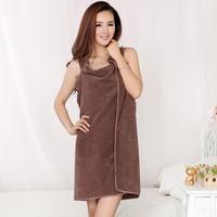 Variety Sexy Unisex Microfiber Towels Soft Bath Towel Bathrobe Sleeveless Beach Bath Dress 5 Colors Drop Shipping HG-06506