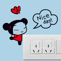 New arrival wall stickers style diy multicolour switch stickers