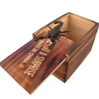 Halloween small wooden box horror toys tricky toy