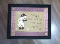 hot sales,photo frame,Fabric christmas decoration christmas snowman wall frame gift
