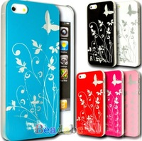 Elegant Ultra Slim 0.05mm Hard Tree Butterfly Flower Case For The iphone 5 WHD18