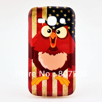 1pcs Vintage design Owl Bird UK US flag Soft TPU Case For Samsung Galaxy Ace 3 S7272 S7270 4 design choose Free shipping