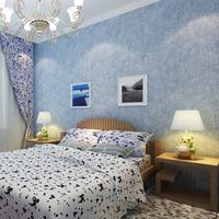 Plain brief modern non-woven wallpaper boy child room wallpaper solid color blue wall paper