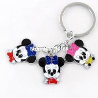 Free shipping criancas presentes fashion children gift key rings popular mouse pendants high quality enamel animal key chains
