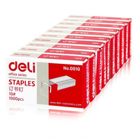 office supplies stationery 0010 mini staples 10# Small book staples free shipping 10boxes/pack, 1000pcs/box
