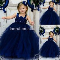 Royal Blue Tutu Spaghetti Straps Flower Girl 1 Years Birthday Dress