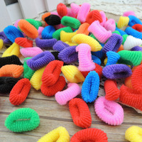 300pcs Fashion Kids Baby girl tiny Hair accessaries thick Rainbow Hair bands Elastic Ties Ponytail Holder Ponies