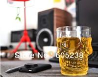 Crystal Skull MUG Glass Glassware / Skull Stein (17ounces / 500ml)