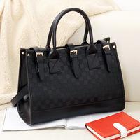 Europe Style Fashion Vintage Checkerboard women leather Handbags Satchel women messenger bags Shoulder Bags TinKin
