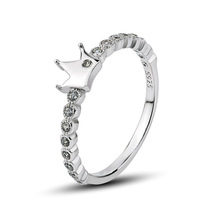 GNJ0489 Fashion Brand Jewelry 925 sterling silver Crown Ring Free shipping Top quality CZ Wedding rings for women