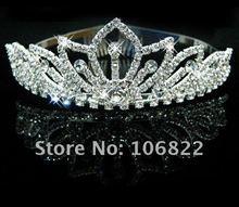wedding bridal crown tiara wholesale free shipping Pretty Silver Crystal Rhinestone