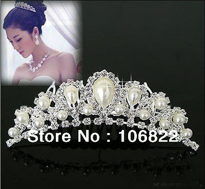 1 pcs Free shipping Noble pear bridal crown wedding tiaras wholesale free shippingLKT0004 Drop shopping