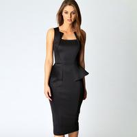New 2014 European fashion woman flounced waist strap ladies sleeveless dress Slim package hip dress camisole dress sexy dresses