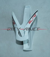 Free Shipping ELITE Full Carbon Fibre Bicycle Water Bottle Cage/14CM*7.5CM/White/35g/bike bottle cage/bike parts