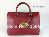 2014 Fashion New Women Genuine Leather Del Rey Shoulder Handbags Tree Logo Designer Brand bags Totes EMS Purses Free Shipping