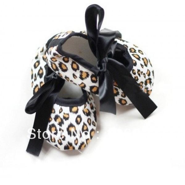 Silk RibbonToddler Infant Baby Girl Zebra Print Shoes 0-18 Months 2Colors LKM044(China (Mainland))