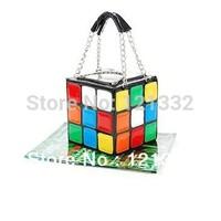 2013 Hotsale 1pcs/Lot Women's Hot Cute Magic Cube Bag Purse Korean Fashion Handbags Wholesale And DropshipS020