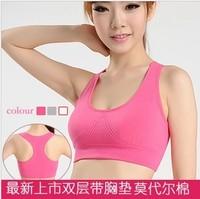 Cotton yoga wireless sports underwear vest design anti-rattle running bra cover young girl plus size