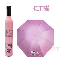 Umbrella sun folding advertising umbrella anti-uv umbrella personalized wine bottle umbrella