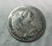 Russia, contemporary medaille, Catherine II the Great, rouble 1766 COIN COPY FREE SHIPPING