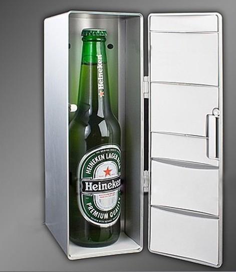 Portable desktop cooler for drinks , Gadget new USB fridge Mini refrigerator USB cooler and warmer Desk fridge Car drink cooler(China (Mainland))