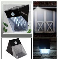 12led human body induction lamp LED PIR solar wall lamp 2pcs/lot  Free shipping