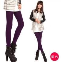 Autumn and winter female legs socks brushed thickening 10 deg . legging socks