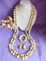 Free ship!Amazing!!!Double Strand Long Drum Bead White Drum Bead Men's Wedding coral jewelry //2015