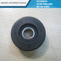Tongda Step Roller 76*25 6204Bearing Pu for escalator Lift Professional elevator parts manufacturer
