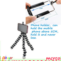 Mobile Phone Holders  Stands Mini Tripod Stand Holder for Mobile Cell Phone with the clip,for iPhone Samsung galaxy S4