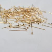 Free shipping,Headpin 20mm with 1.9mm ball,copper base needle,600pcs/lot,Golden color