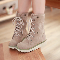 Slip-resistant waterproof winter fur boots winter boots cotton-padded shoes flat heel platform snow boots female boots