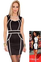 New Fashion 2014 Women Sexy Summer Sleeveless Mini Short Dress
