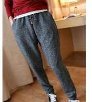 Free Shipping New 2015 Women Winter Trousers Loose Legging Rrousers Warm Sports Pants Skinny Pants Casual Trousers Harem Pants
