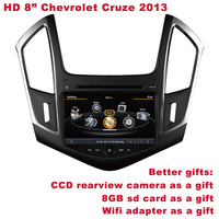 "HD 8""  Chevrolet Cruze 2013 in Car DVD DVR WIFI 3G CCD Camera SD Card for free Better Quality Better Service Free Shipping+Gifts"
