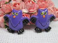 Free Shipping 50 PCS/Lots DIY Very Hot and Kawaii   Resin cabochons For  phones and photo frames DIY Resin owl