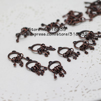 30pcs/lot 13*25mm Antique Copper Metal Alloy Keychain Charms Findings Keys Pendants 7101