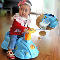 Child toilet car type toilet baby potty chair toilet bianpen band music