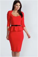 2014 fashion Lotus leaf swing dress bohemian ruffles bodycon dress women one-piece dress