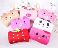 New Arrival ! Lovely Cartoon Plush Soft Muff Gloves Blanket Throw Cushion Pillow Cute Girls