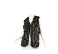 CAP066 women's fur coat fashion faux peacock feather fur vest sleeveless fur vest