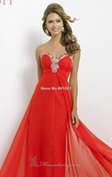 Wonderful A-line Sweetheart Sleeveless Backless Chiffon Beading Strapless Gown Prom Dress