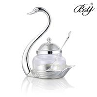 B&y fashion sauce pot glass fashion set spoon