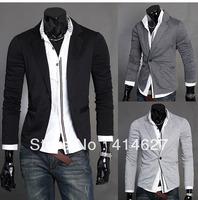 Free Shipping 2013 Latest design knitting small suit men's suit man joker low detonation model 3 color suits for men blazer