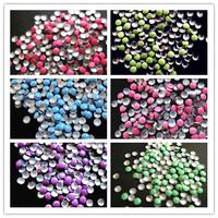 2mm total 600 PCS SUPER NEWEST 6 colors 3d nail art studs circular Metal decoration Decal