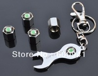 1 Set  Car Wheel Tire/Tyre Valves Cap Wrench Key Chain For  SKODA Series