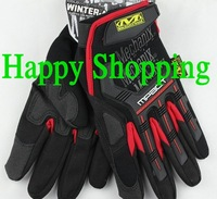 Mechanix M-Pact Military Airsoft Glove Racing Hunting Cycling Motorbike Bicycle Bike Full Finger Gloves S M L XL Red