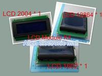 Free shipping!1set=3pcs Lcd Module LCD1602 + LCD2004 + LCD12864 bule screen White font LCD Module kit for Arduino Quick shipment