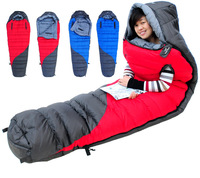 Ultralight down sleeping bags outdoor camping sleeping Couples style bag camping adult autumn and winter thick warm sleeping